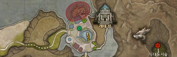 맵에 퀘스트 관련 아이콘이 표시 된다