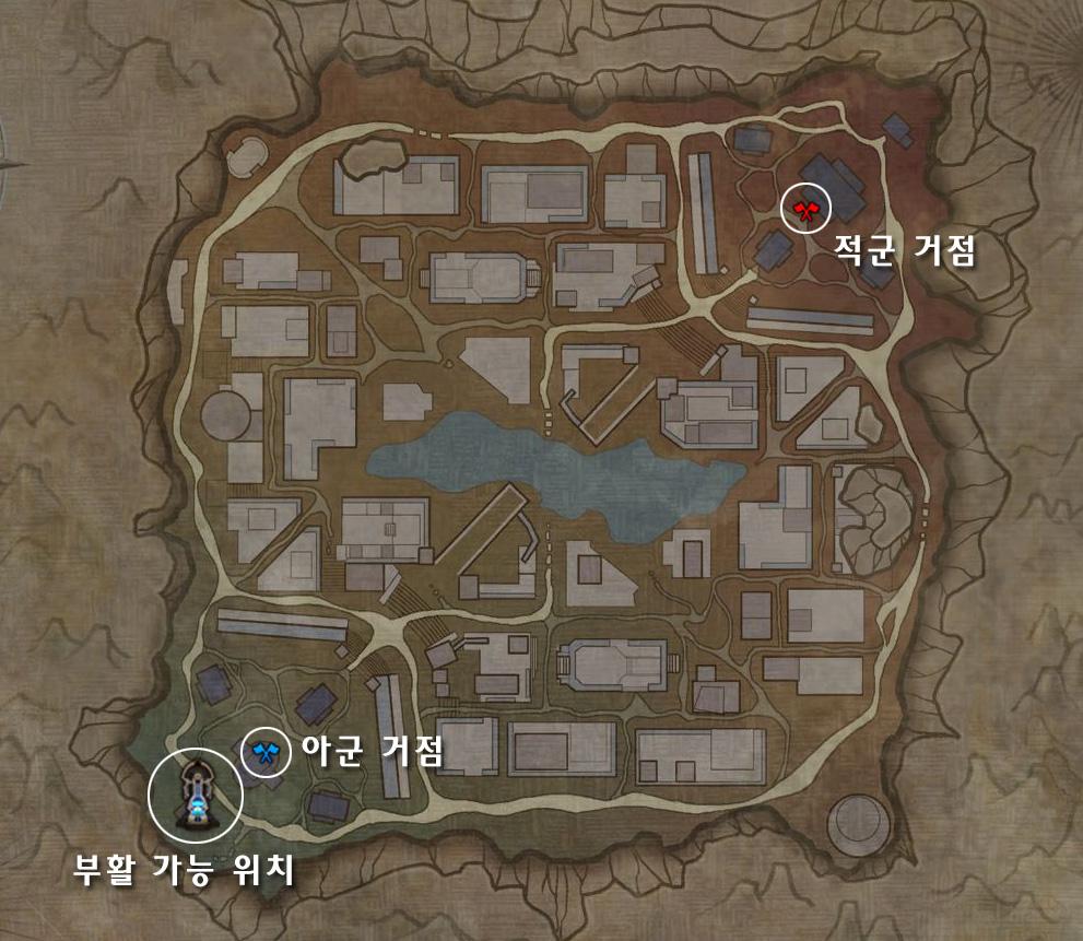 잊혀진 사막 사원 지도
