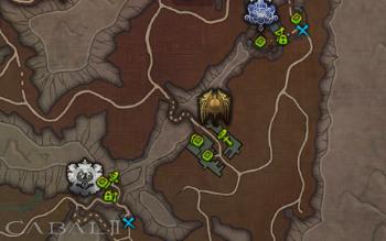 전체지도에서 섬광탄 사용 위치를 확인하자